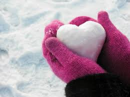 Hand with snow heart images